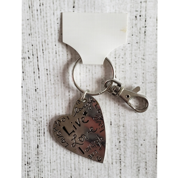 KEYCHAIN--Live Love Laugh, Silver NWT